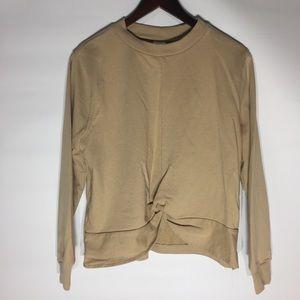 H&M neutral twist front hemline sweatshirt
